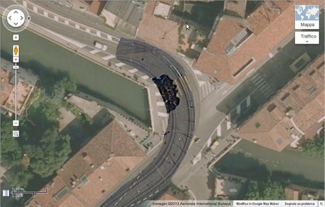 Confronto Padova - Zurigo: la curva del Santo con binari zurighesi