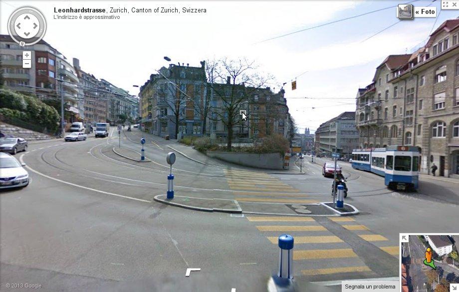Confronto Padova - Zurigo: Leonhardstrasse da StreetView